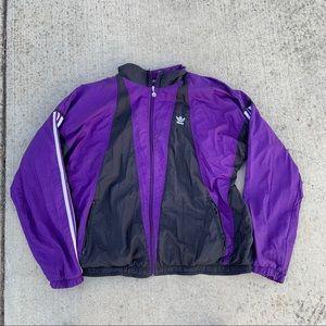 Vintage purple and Black Adidas Jacket 🌂